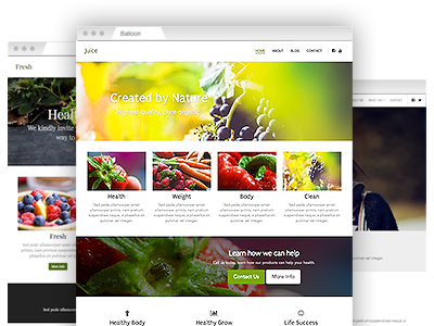 An assortment of easy to re–design themes